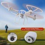 RCskladem XXL DRON L5 s HD WIFI kamerou- barometrem-15 minut letu bílý 23092481B