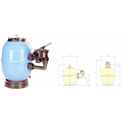 Vágner Pool Lisboa 900 mm Filtrační nádoba 30 m3/h boční
